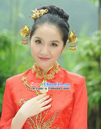 Traditional Chinese Handmade Wedding Hair Flowers Bridal Fascinators