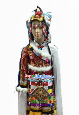 Tibetan National Traditional Clothes of Tibet