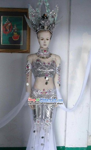 China Fairy Tales Costume and Headdress Complete Set