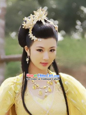 Traditional Chinese Fairy Headdress and Necklace Set