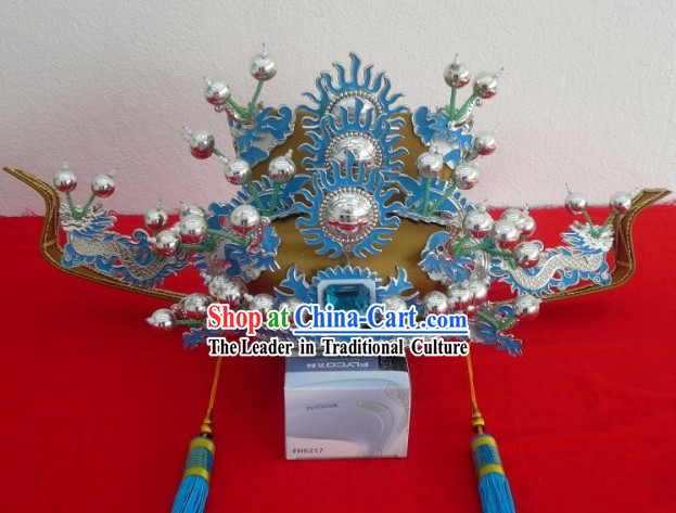 Traditional Chinese Opera Official Prime Minister Helmet