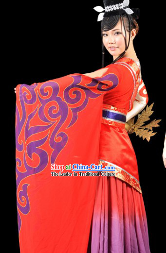 Ancient Chinese Ritual Dances Costume and Headdress Complete Set for Women