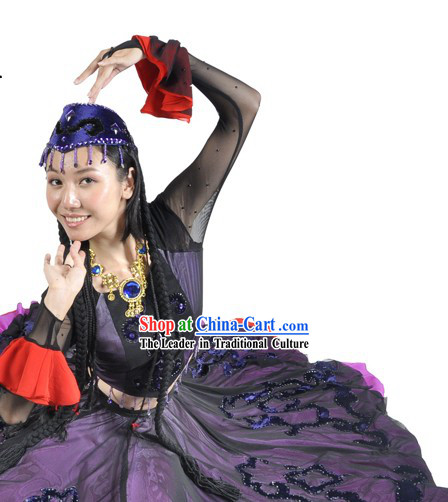 Hua Er Wei Shen Me Zhe Yang Hong Costume and Headdress Complete Set for Women