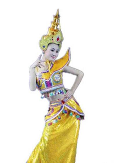 Thailand Costume and Headwear Complete Set for Women