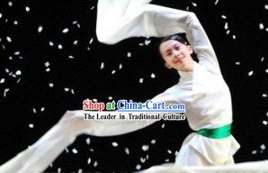White Long Shuixiu Stage Performance Costumes Complete Set for Women