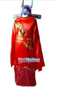 Chinese New Year Cai Shen Costume and Hat Complete Set for Men