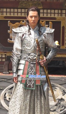 Chinese Costume Period of the Northern and Southern Dynasties Lanling Wang Ancient General Armor Costumes for Men