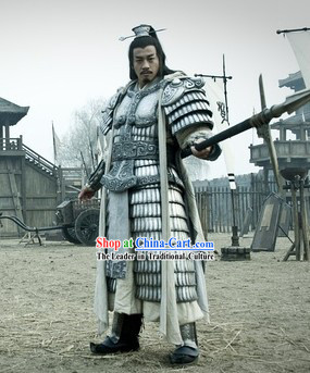 Three Kingdoms China Lv Bu Hero Armor Clothing for Men