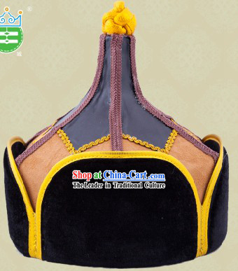 48f987a1f69 Handmade Traditional Mongolian Prince Hat for Men