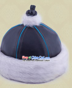 Handmade Traditional Chinese Mongolian Hat for Boys