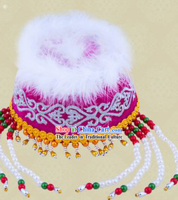 Ancient Chinese Mongolian Fragrant Princess Hat for Women