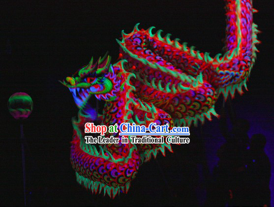Festival Celebration Fluorescent Dragon Dancing Costumes Complete Set