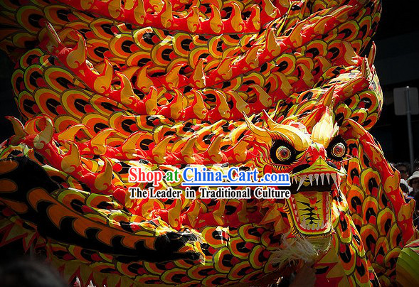 Professional Dragon Dance Costume Complete Set for 9-10 People