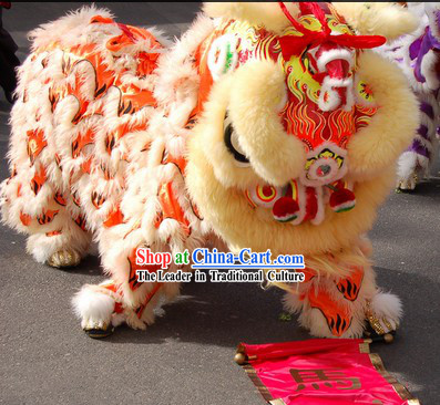 Glow in Dark Lion Dance Head and Tail Pants Costume Complete Set