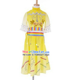 Traditional Chinese Dai Nationality Clothes for Kids