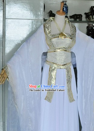 Chinese Classic White Wedding Dress Complete Set for Brides