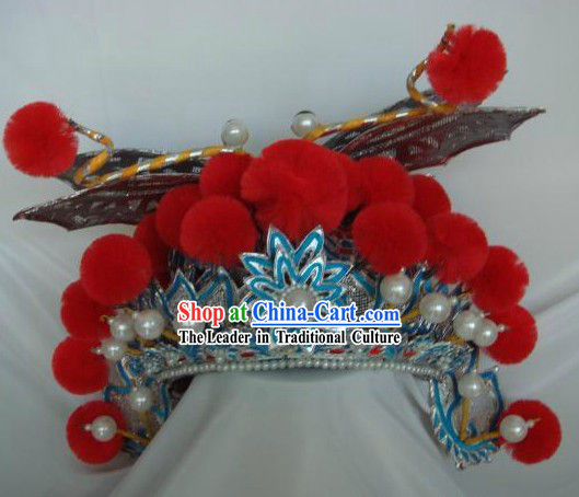 Chinese Classical Peking Opera Butterfly Helmet Headpiece