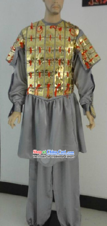 Qin Dynasty Period Chinese Bing Ma Yong Terracotta Terra Cotta Warrior Costume for Men
