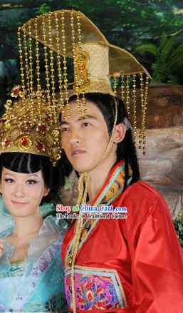 Ancient Chinese Imperial Emperor Headpiece for Men