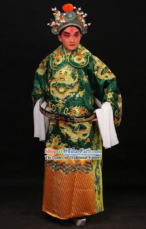Traditional China Beijing Opera Lao Sheng Dragon Robe for Men