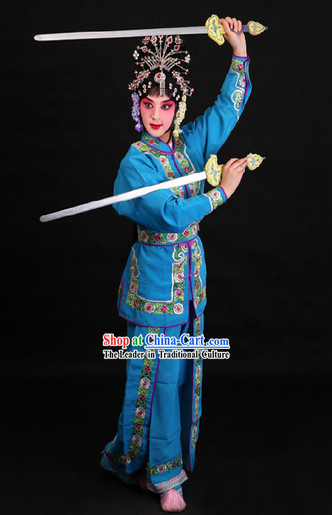 Traditional China Peking Opera Wu Dan Classical Dance Costume for Women