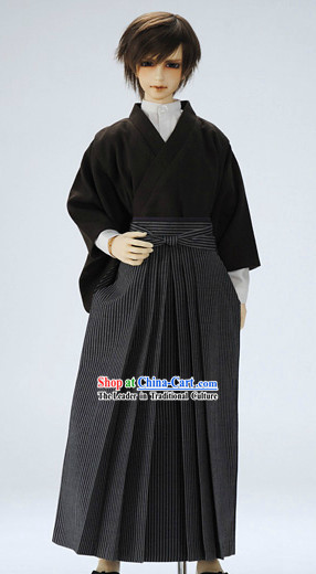 Traditional Black Japanese Clothing for Men