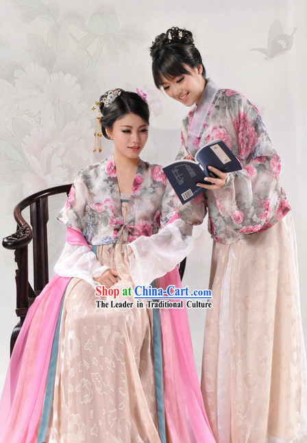 Ancient Chinese Tang Dynasty Clothes Complete Set for Women
