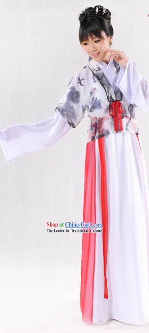 Ancient China Han Dynasty Swallow Clothing Complete Set for Women