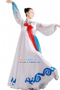 Traditional White Chinese Korean Clothing for Women