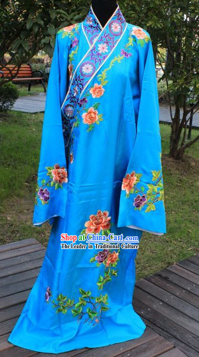 Ancient Chinese Opera Xiao Sheng Embroidered Robe for Men