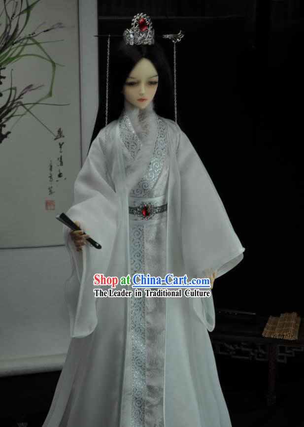 Ancient Chinese White Prince Costumes for Men