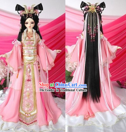 Classical Chinese Princess Clothing and Hair Accessories Complete Set
