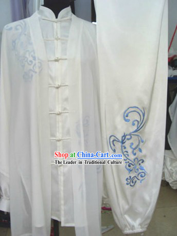 Traditional Chinese Martial Arts Tai Chi Silk Suit and Cape