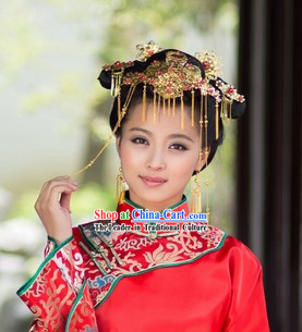 Chinese Classical Wedding Bridal Headdress