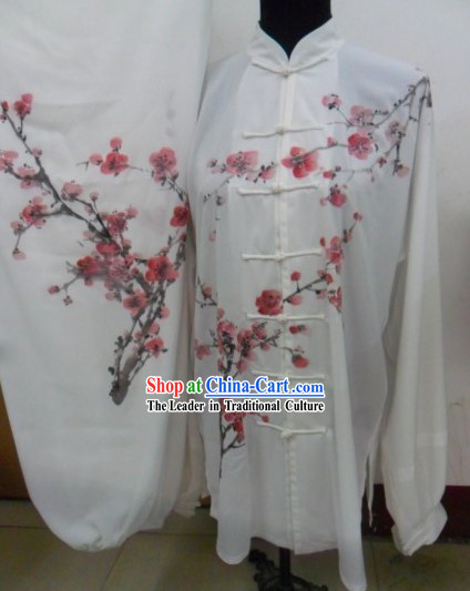 Traditional Chinese Hand Painted Plum Blossom Tai Chi Suit