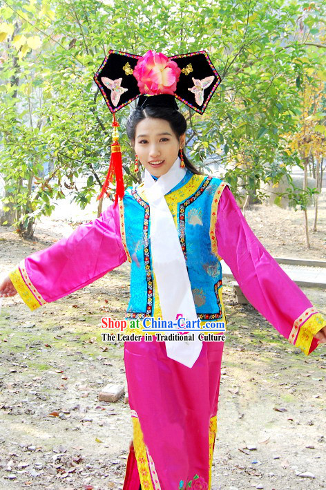 Princess Pearl Vicki Zhao Wei Qing Dynasty Imperial Palace Costume and Hat for Women