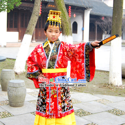 e6707ceaa Qin Dynasty Qin Chao Qin Shi Huang First Emperor of Qin Costume and Hat for  Children