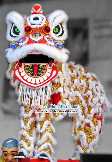 Supreme Mandarin Fut San Golden Lion Dancing Equipment Complete Set