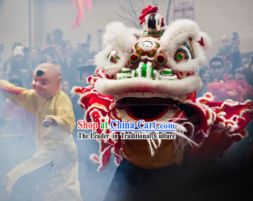 Chinese New Year Ceremony Lion Dancing Costume Complete Set