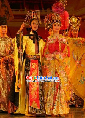 Ancient China Tang Emperor Tai Zong and Empress Yang Gui Fei Clothes and Hat