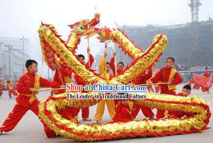 Shinning Chinese New Year Dragon Dance Costume for Seven or Eight Children