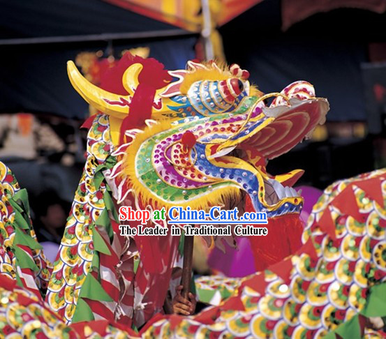 2008 Peking Olympic Games Chongqing Tongliang Dragon Dance Costumes for Ten People