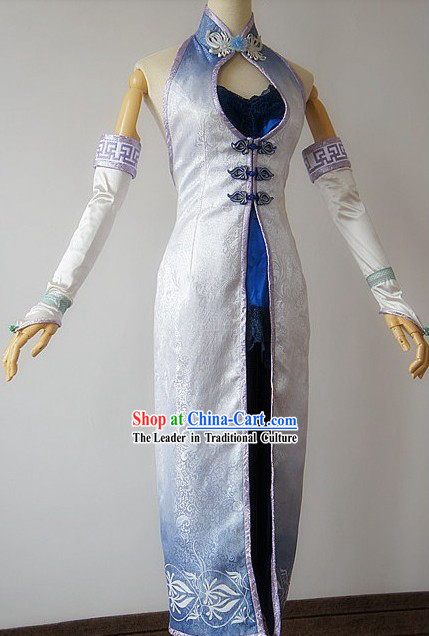 Ancient Chinese Three Kingdoms Cosplay Clothing Complete Set