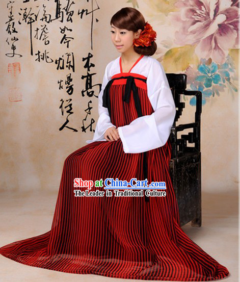 Ancient Chinese Tang Dynasty Time Robe for Girls