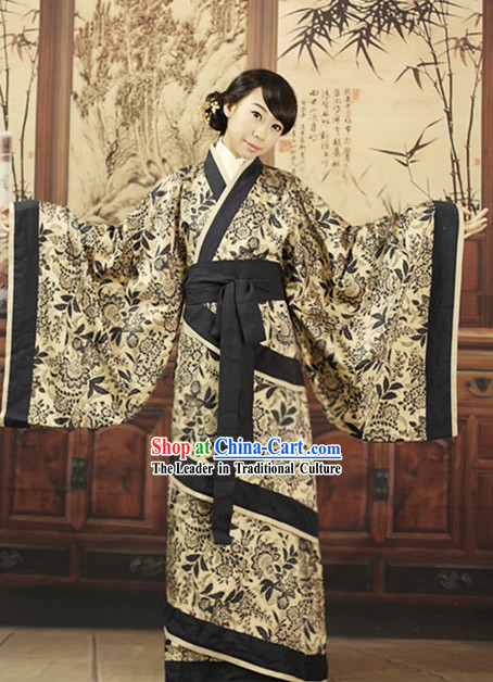 Ancient Chinese Black and White Quju Hanfu Outfits for Women