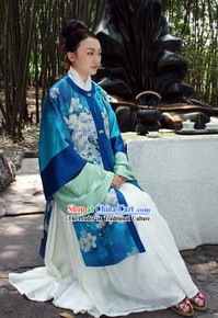 Ancient Chinese Han Dynasty Clothing Robe for Ladies