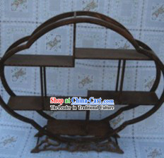 Handmade Traditional Chinese Natural Wood Arts Shelf