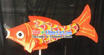 Traditional Yellow Chinese New Year Fish Carp Lantern for Display or Performance