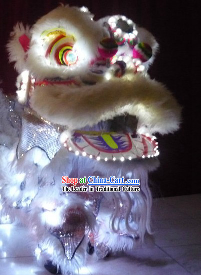 Traditional Chinese LED Lights Lion Dancing Costumes Complete Set