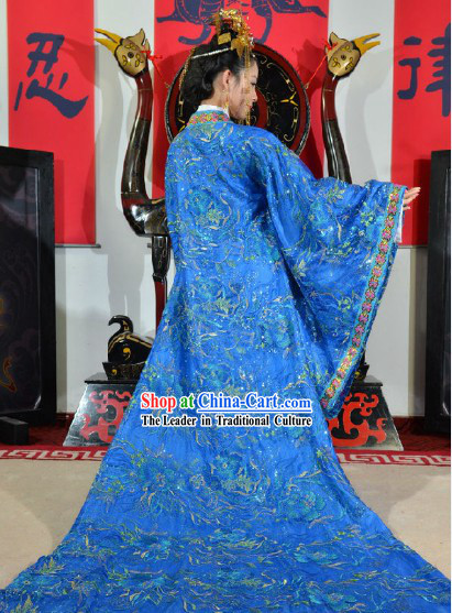Traditional Ancient Chinese Tang Dynasty Wedding Outfit for Brides